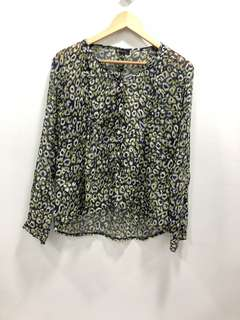 Space Peacock Blouse - Preloved, Excellent Condition