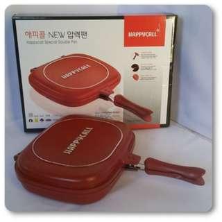 Happycall Double Pan Original Panci Korea 32Cm Anti Tumpah