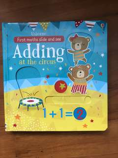 "Usborne First Maths slide and see ""adding at the circus"""