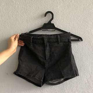 Bershka Black Denim Shorts
