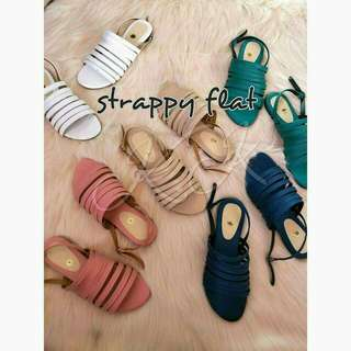 Strappy flats (BEIGE ONLY)
