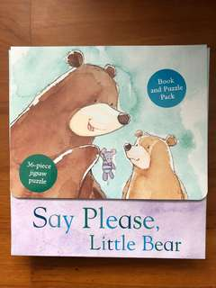 Say please little bear -book and 36 pcs puzzle set
