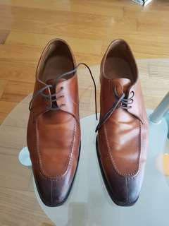Bespoke brown leather shoes size 11