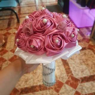 Fabric & Brooch Bouquet
