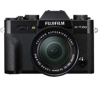 Fujifilm X-T20 Camera XC 16-50 & XC 50-230 lens bundle