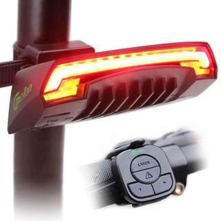 💯🆕 Meilan X5 Remote Control Signal / Rear / Laser Light Safety Tail light for Bicycle / Scooter/DYU
