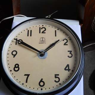 Equity Vintage Electric Wall Clock