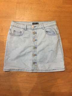 Another size 8 valley girl denim skirt