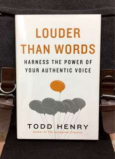 # Highly Recommended《Bran-New + Hardcover Edition + Developing An Authentic Inner Voice That Guide To Living A Meaningful Life  & Job Satisfaction》Todd Henry - LOUDER THAN WORDS : Harness the Power of Your Authentic Voice