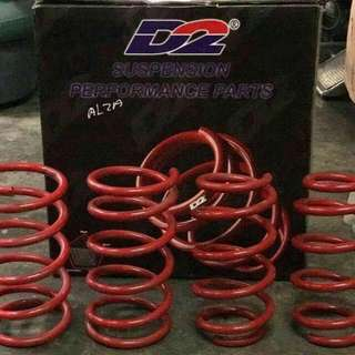 D2 lower spring sport spring coil spring Vios Alza