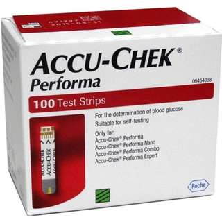 🚚 ACCU CHEK PERFORMA 100 Test Strips Blood Pressure Glucose Monitor [CBX] / Expiry Date: 2019 June 30