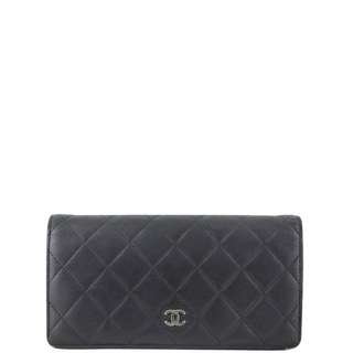 Authentic Chanel Quilted Yen Wallet