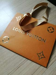 AUTHENTIC LV New latest edition package paper bag Louis vuitton packaging carrier shopping original box paper bag