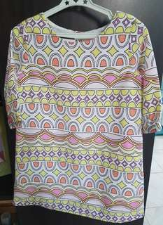 Oshkosh 3/4 sleeve multicolored dress