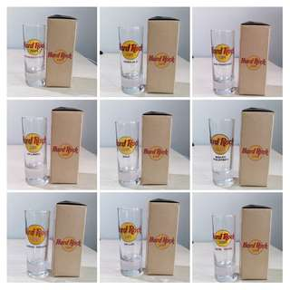 9 BNIB Hard Rock Cafe Shot Glass