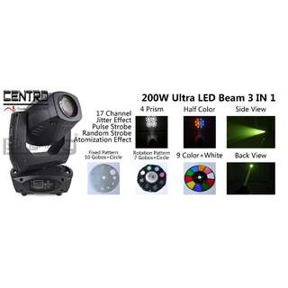 PL 200W 3 in 1 Beam / Spot / Wash moving head