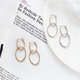 [PO] Heather Minimalist Loop Earrings