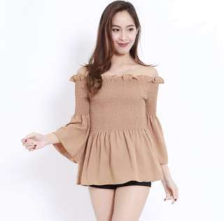 🌷(In Stock) Chiffon Smoked Offsie Taupe