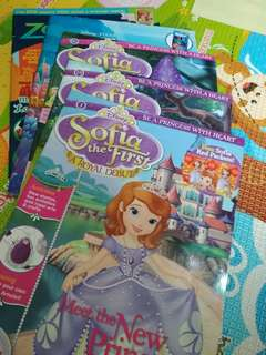 Brand new Sofia the first issue 1, 14, 16. Giveaway 2 brand new mag Dory and zootopia
