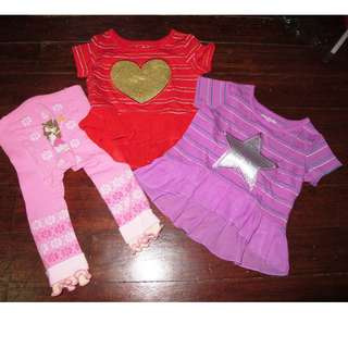 Lot of 3 baby girl clothes garanimals