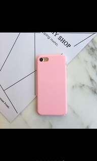 Matte pink iphone 6 plus case
