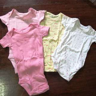 Carters Girls Baby Onesies Set of 4
