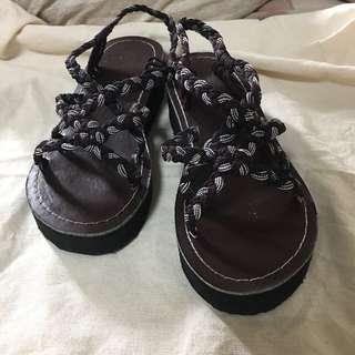 編織涼鞋 拖鞋 很顯腿長