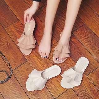Minimei追加款✪韓系韓版歐美風百搭休閒拖鞋女夏百搭平底休閒涼拖人字拖涼鞋女
