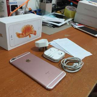 Iphone 6s plus 64gb rosegold dijamin inter ori bisa tt