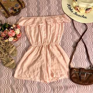 peach off romper
