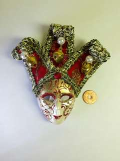 Italy, Venice Souvenir 3D Mask Ref Magnet (5 Inches)