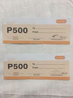 2 for 700. Cravings Gift Certificates for sale. Cheap
