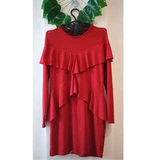 ZARA Red Dress Stretchy NEW