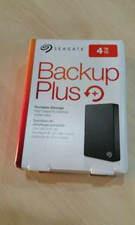 Seagate backup plus 4TB external hard drive portable USB 3.0 no adapter required  Brand New Never Used, local warranty till January 2020.  USB 3.0. Requires USB power only, no adapter needed.   Very Small and Portable.