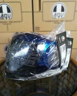 Agv fluid iridium blue and silver visor