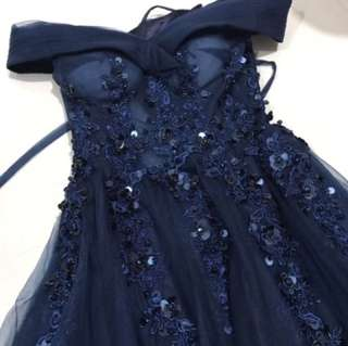 Navy long gown