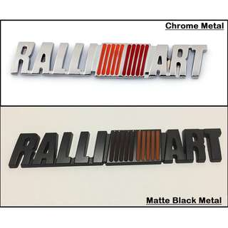 3D Ralliart Metal Car Auto Badge Emblem Decal For Mitsubishi All Models