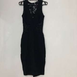 Black Lace Party Dress
