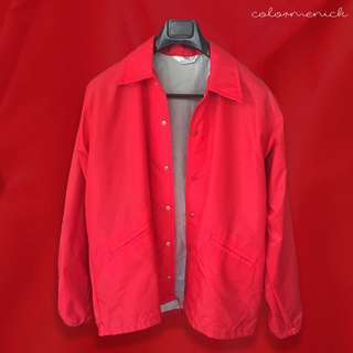 Vintage 70's West Wind Snap-up Red Nylon Jacket