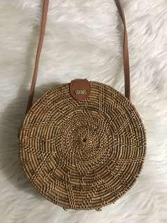 Classic Round Rattan Bag