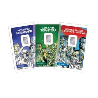 Malaysia 14th General Election 3-way Battle Silver bar set
