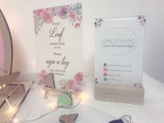 Customized Printed Reception Table Signage with Stand