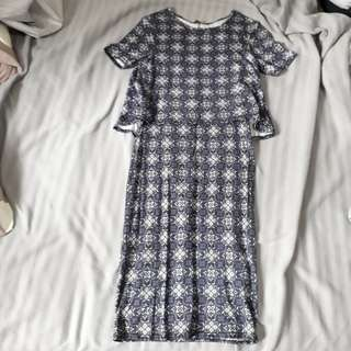 3 for $12 New look printed layered dress