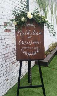 Customized Wooden Signage for Wedding