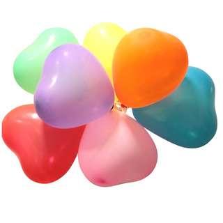 心形氣球 用品 10/12寸 婚禮 求婚 結婚佈置 影相 加厚 wedding BALLOONS 包郵 BL07