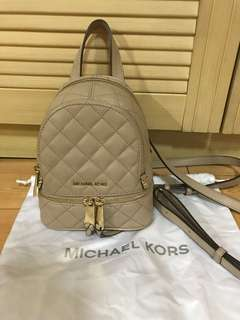 Michael kors backpack xs