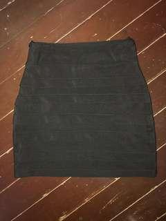 Black Bandage Skirt (S-M)