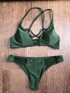 100% new green Bikini set