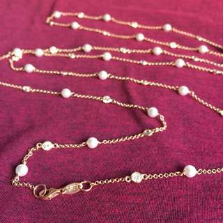 INNIU long pearl necklace
