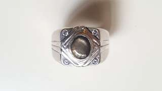 ( FOR SALE ) Natural Gold Sheen Star Sapphire 925 Silver Custom-Made Ring